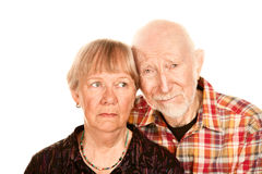 Concerned senior couple Royalty Free Stock Photo