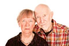 Concerned senior couple Stock Photos
