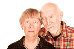 Concerned senior couple Stock Images