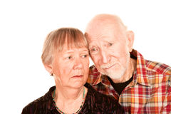 Concerned senior couple Royalty Free Stock Image