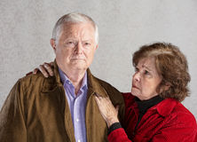 Concerned Senior Couple Royalty Free Stock Photography