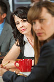 Concerned Women in Cafe Royalty Free Stock Photography