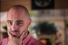 Concerned Young Man Royalty Free Stock Photo