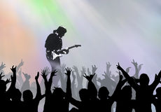 Concert. Young people visit rock concert Stock Image