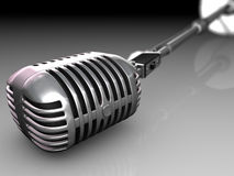 After the concert. Microphone after the concert is on the ground stock illustration