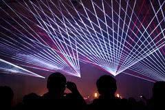 Concert. A live concert with laser show Royalty Free Stock Image