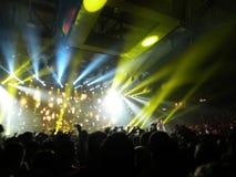 In concert. Ligabue in concert under the blue backlight. Image relating to concert Stock Images