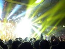 In concert. Ligabue in concert under the blue backlight. Image relating to concert Royalty Free Stock Images