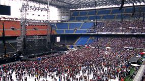 Concert. View of Milan's San Siro stadium during Vasco Rossi's concert of the KOM 011 live tour Stock Photography