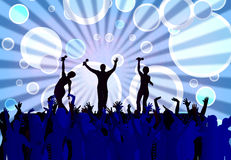 Concert. With entertainers and large crowd Royalty Free Stock Photos