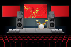 Concert. The vector image of a concert stage Royalty Free Stock Photography