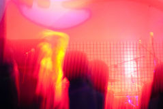 Concert. Abstract view of an underground concert Royalty Free Stock Photos
