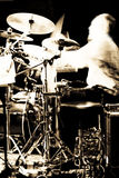Concert abstrait de batteur Photo libre de droits