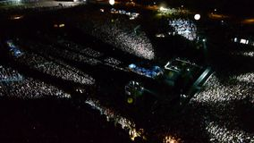 Concert aerial view stock footage