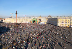 Concert au grand dos de palais, St Petersburg, Russie. Image libre de droits