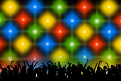 Concert. Audience dancing wildly at a concert royalty free illustration