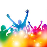 Concert Audience Vector. A crowd of people at a concert gig, vector illustration Stock Photography