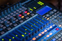 Concert Audio Mixer Royalty Free Stock Images