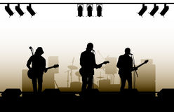 Concert Background. An illustrated background of a band performing in a concert Royalty Free Stock Photography