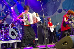 Concert of the band Iva Nova 3. Concert of the band Iva Nova Folk Festival in Estonia 4 royalty free stock photography