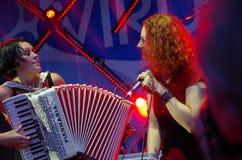 Concert of the band Iva Nova 4. Concert of the band Iva Nova Folk Festival in Estonia 4 stock photos