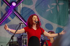 Concert of the band Iva Nova 2. Concert of the band Iva Nova Folk Festival in Estonia royalty free stock image
