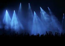 Concert bleu Photos libres de droits