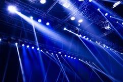 Concert blue light Royalty Free Stock Image