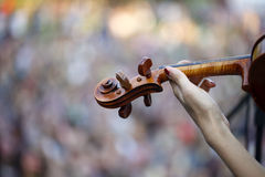 Concert blurred crowd of people Royalty Free Stock Photo