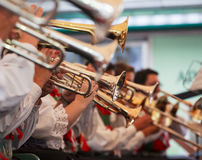 Concert. BOLZANO, ITALY - SEPTEMBER 15: View of orchestra in concert on September 15, 2013 Royalty Free Stock Images