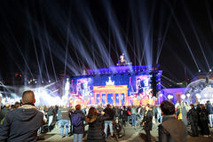 Concert at the Brandenburg Gate Stock Photography