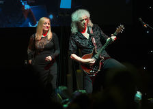 Concert Brian May et Kelly Wellis The Voice Image libre de droits