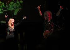 Concert Brian May et Kelly Wellis The Voice Photographie stock