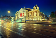 Concert building in Amsterdam at night Stock Image