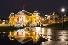 Concert building Amsterdam night Stock Photography