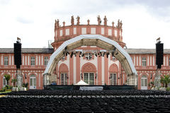 Concert at Castle Biebrich. Wiesbaden, Germany - July 14, 2016: An established concert venue with rows of seats for a classical concert at the grounds of the Royalty Free Stock Image