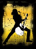 Concert.cdr. Rock concert background vector illutration Royalty Free Stock Photography