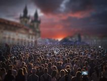 concert in the center of Prague. royalty free stock images