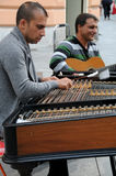 Concert for cimbalom and guitar Stock Photography