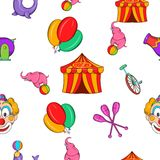 Concert in circus pattern, cartoon style Stock Images