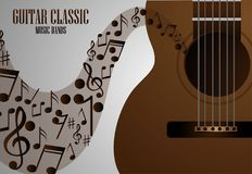 Concert of classical live music with a guitar Stock Photography