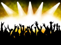 Concert crowd stock illustration