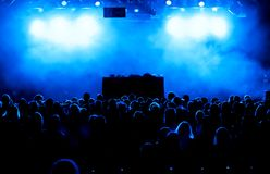 Concert crowd. At a musical festival royalty free stock photo