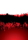 Concert crowd. Music inspired crowd scene with blood dribble ideal background Stock Photo