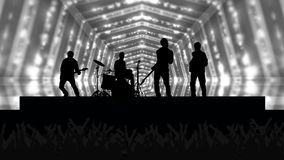 Concert Crowd Background vector illustration