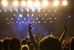 Concert crowd Royalty Free Stock Photos