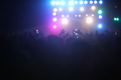 Concert Crowds and Lights Royalty Free Stock Images