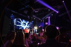 Concert d'éloge de partie de nuit Photo libre de droits