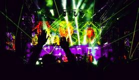 Concert d'éloge de partie de nuit Photo stock
