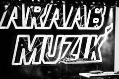 Concert d'Araabmuzik à Moscou Images stock